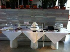 Sweet table en bruidstaart