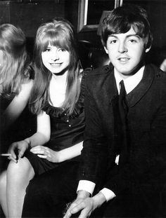 9th April 1964. Paul and Jane Asher at the Pickwick Club enjoying a party hosted by Joan Collins and husband Tony Newley.
