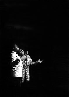 Louis Armstrong & Velma Middleton, Bal Tabaran, 1950, by Bob Willoughby