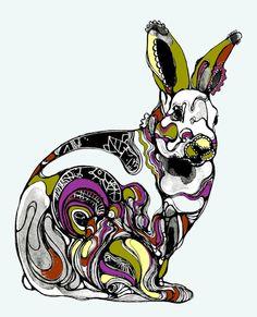 ... au pays des lapins | Artiste : Randi Antonsen