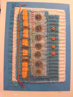 hand stitching, free machine embroidery, beads. Size -  Mounted onto an A4 size white card.