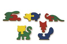 Wooden Animal Shape Puzzles by TAG
