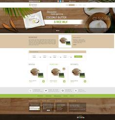 Maquette proposée pour le site natibio.com
