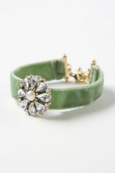 green velvet bracelet