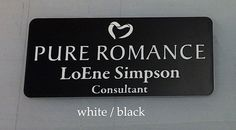 Black Laser Engraved | Pure Romance Name Tags