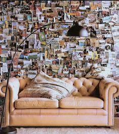 DIY postcard wall art decoration in living room My New Room, My Room, Dorm Room, Diy Wall Art, Wall Decor, Diy Art, Postcard Wall, Diy Postcard, Postcard Display