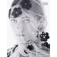 """SIMONE ROCHA on Instagram: """"S/s15 flower veil  in @thelovemagazine... ❤ liked on Polyvore featuring accessories"""