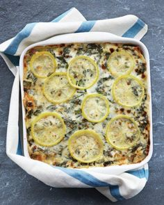 Sausage, Chard, and Lemon Lasagna Recipe