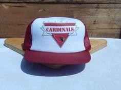 7445fcd3fcc Vintage-Official-NFL-Trucker-Hat-St-Louis-Cardinals-Snapback-One-Size-Mesh -NOS
