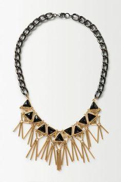 Geometric Fringed Necklace - anthropologie.eu