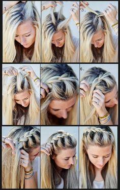Ingevlochten pony - French Braid Half-up Side #tutorial