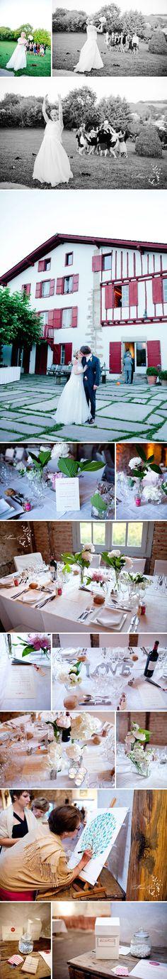 photographe mariage chic pays basque Ihartze Artea Sare traiteur Barrère bouquet hortensias Rodolphe