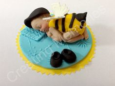 Cake topper for the MOTHER TO BEE! Ready to take front stage at the baby shower or any other celebration, Made of Edible Vanilla Fondant