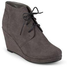 b37e6df0ec2b Women s  Journee Collection Faux Suede Wedge Booties    Target Wedge Heel  Boots