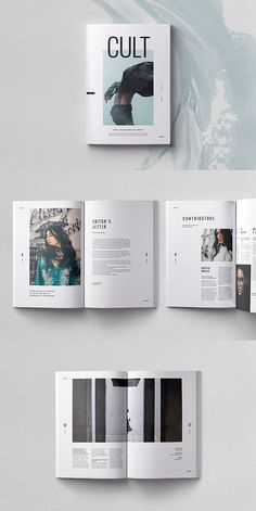 CULT Magazine Template #brochure #template #indesign #magazine #lookbook #portfolio #catalog #lifestyle #fashion