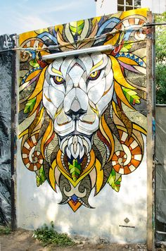 YAAM // Mural // Lion on Behance