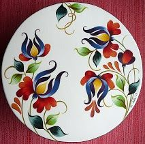 This is a wonderful pattern! China Painting, Tole Painting, Ceramic Painting, Fabric Painting, Ceramic Art, Norwegian Rosemaling, Russian Folk Art, Turkish Art, Country Paintings