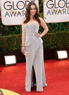 The Khaleesi, Emilia Clarke, in Proenza Schouler at the 2014 Golden Globes