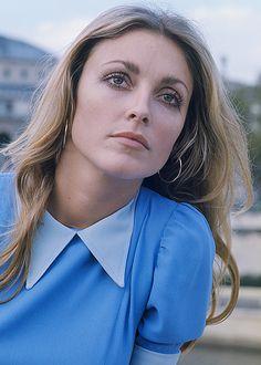 Sharon Tate in Paris, 1968- Garbo styled eyes- darkened crease