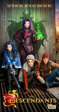 Directed by Kenny Ortega.  With Dove Cameron, Cameron Boyce, Booboo Stewart, Sofia Carson. A present-day idyllic kingdom where the benevolent teenage son of King Adam and Queen Belle offers a chance of redemption for the trouble making offspring of Disney's classic villains: Cruella De Vil (Carlos), Maleficent (Mal), the Evil Queen (Evie) and Jafar (Jay).