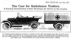 World War One Ambulances   WWI Medical Front  
