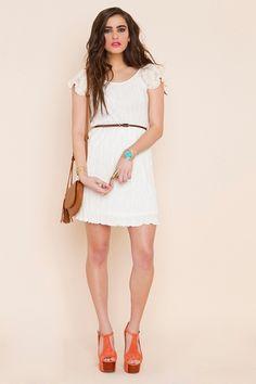 Sweet ivory dress