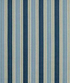Waverly Spotswood Stripe Porcelain Fabric   onlinefabricstore.net