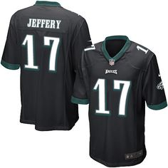 Youth Nike Philadelphia Eagles #17 Alshon Jeffery Game Black Alternate NFL Jersey