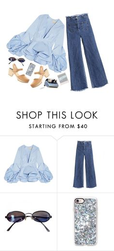 """""""DAY WEAR - SHE'S ALL OVER"""" by pretty-basic ❤ liked on Polyvore featuring Johanna Ortiz, Fendi, Casetify, Madewell, Polaroid, daywear, retro and prettybasic"""
