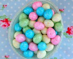 glittered easter eggs