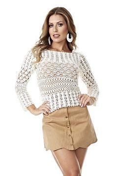 Delicadezas en crochet Gabriela: Patrones de blusas