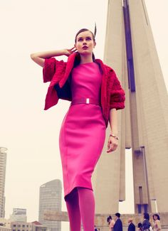"""Jac Jagaciak  in """"Fall With Love"""" Photographed by JMN & Styled by Yi Guo for Vogue China, August 2012"""