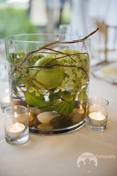 Green Hydrangeas, Granny Smith Apples & Curly Willow BlossomsAtlanta.com