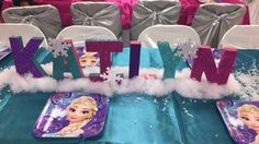 Frozen inspired paper mache letters