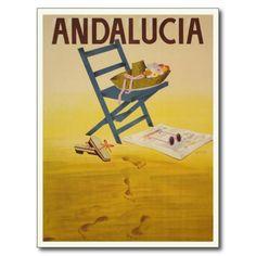 Carte postale avec la copie vintage d'Espagne | Zazzle