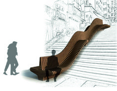 parametric architecture - sloping bench