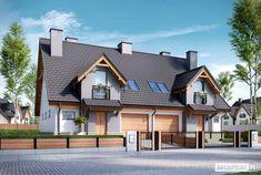 Sambor G2 (dwulokalowy) - projekt domu - Archipelag Home Fashion, Exterior, Mansions, Architecture, House Styles, Home Decor, Retail, Miniatures, Houses