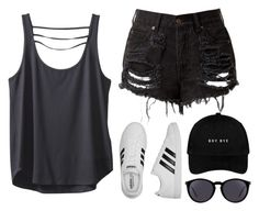"""You're scared, I'm nervous, but I guess that we did it on purpose "" by feel-like-infinity ❤ liked on Polyvore featuring Kavu, adidas and Yves Saint Laurent"