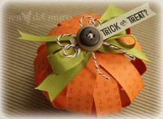 Paper Pumpkin - Fun Project for Kids - Place Card for Halloween or Thanksgiving