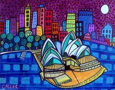 50% Off - Sydney art Art Print Poster by Heather Galler Sydney Opera House (HG862)