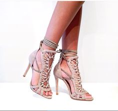 Pretty strappy heels from #schutzshoes