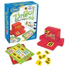 Zingo! 1-2-3 | Coiledspring Games Two levels of play mean that children of different ages can play - one side is number matching - the other is simple addition #maths