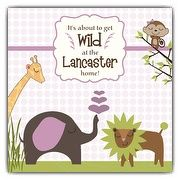 Jungle Friends Girl Baby Shower Invitations   PaperStyle