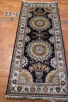 "2'6""x6' Runner Hand-knotted 200 kpsi Silk Oriental Persian Tabriz Rug 9436"