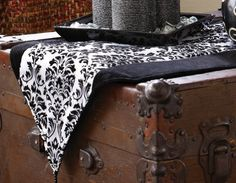Black & White Flourish Halloween Decorative Table Runner By Collections Etc Black White Parties, Black And White, Black White Halloween, Seasonal Decor, Holiday Decor, Halloween Decorations, Table Decorations, New Bedroom Design, Collections Etc