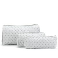 Pale Grey Heart Washbags