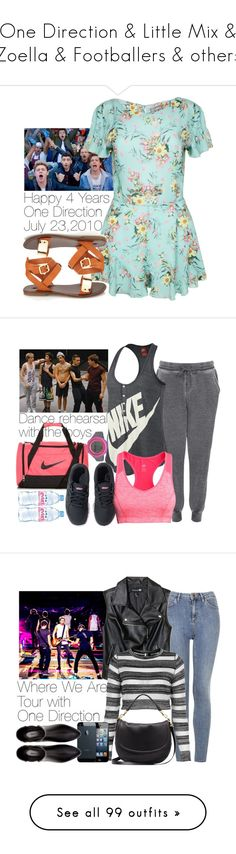 """""""One Direction & Little Mix & Zoella & Footballers & others"""" by wkus ❤ liked on Polyvore featuring Forever 21, NIKE, Topshop, Puma, H&M, Evian, Zara, Mulberry, River Island and rag & bone/JEAN"""