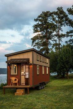 Das Boxcar ist ein kleines Haus, das groß auf Stil ist #boxcar #kleines