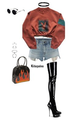 It was a good day. by fashionoise on Polyvore featuring polyvore, fashion, style, Denim & Supply by Ralph Lauren, Pleaser, Bisadora, Lynn Ban, Maria Francesca Pepe and clothing