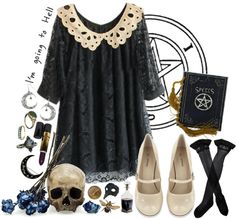 """I'm going to hell"" by sara666x on Polyvore"